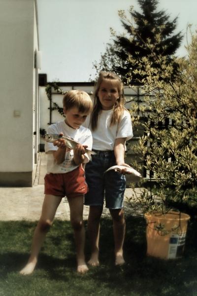 """Sommer 1995 - """"Beute"""" vom Angeln auf dem Ammersee"""